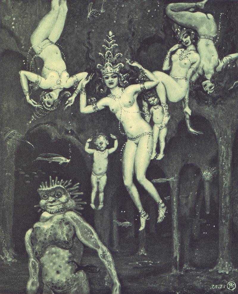 Richard Teschner - The Burning, 1914-16