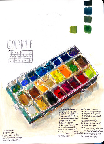 Sketchbook #112: My Gouache Palette