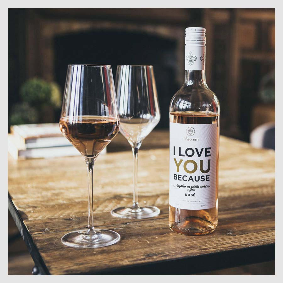 Galentine's Day Gifts For Your Friends to Shop | Notonthehighstreet.com Personalised Valentine's Day Wine Provence Rose