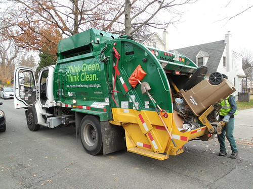 Recycling Collection in Martin's Additions, Maryland