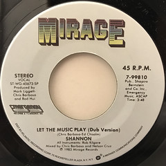 SHANNON:LET THE MUSIC PLAY(LABEL SIDE-B)