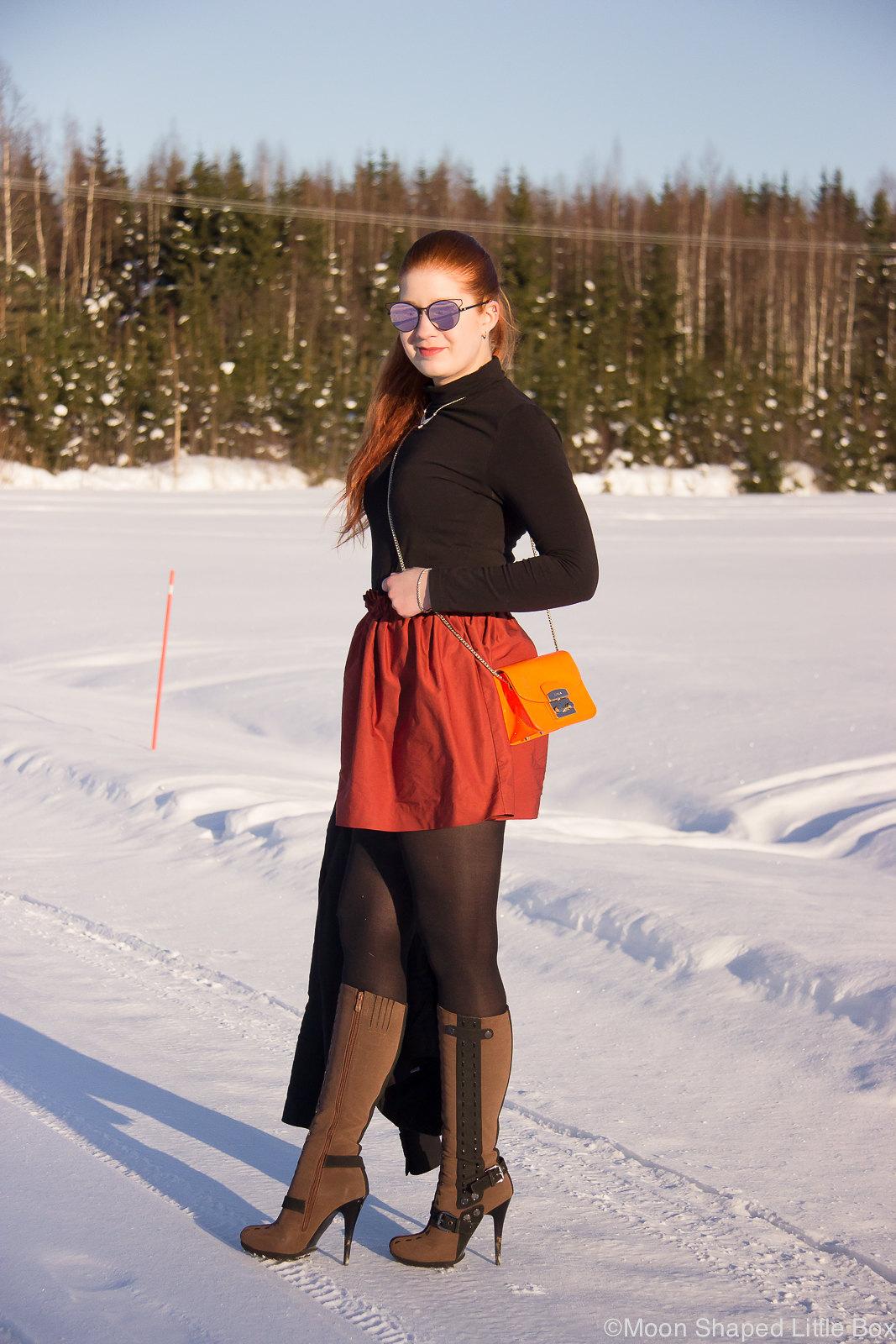 talvityyli, pukeutuminen, poolopaidan yhdistäminen asuun, päivän asu