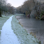 Frozen path by the canal at Preston
