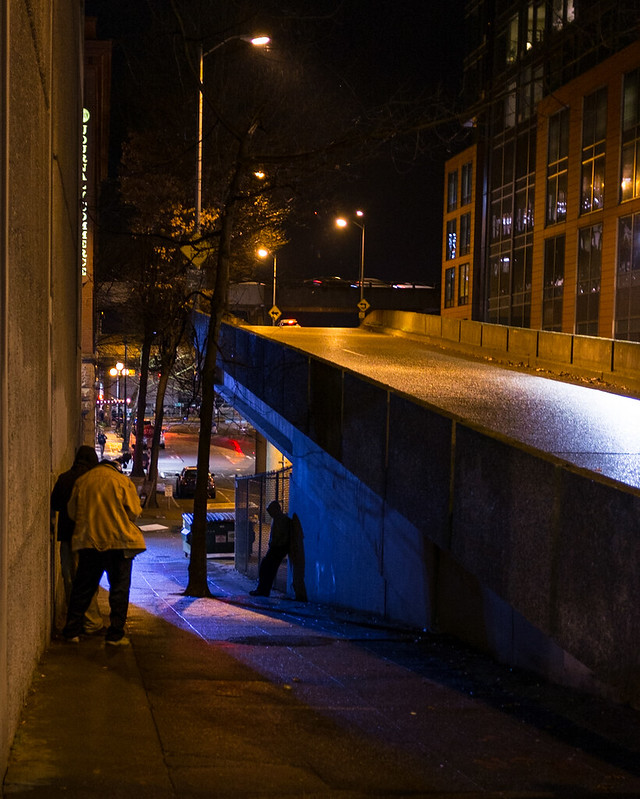 night, under the ramp #seattle