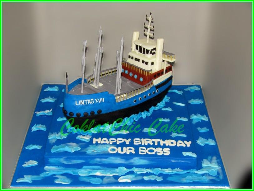 Cake Kapal Tanker Lintas XVII 30 cm
