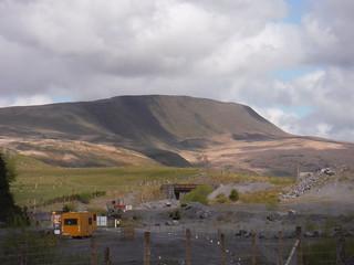 Fan Hir Escarpment, from Penwyllt Quarry