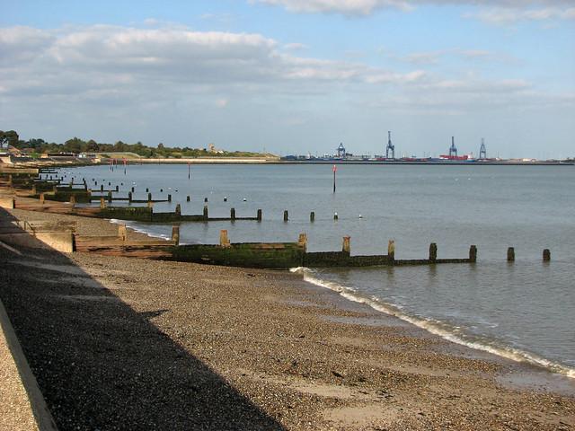 The beach at Dovercourt