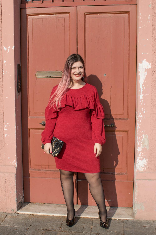Outfit plus size per san valentino, rosso e nero (2)