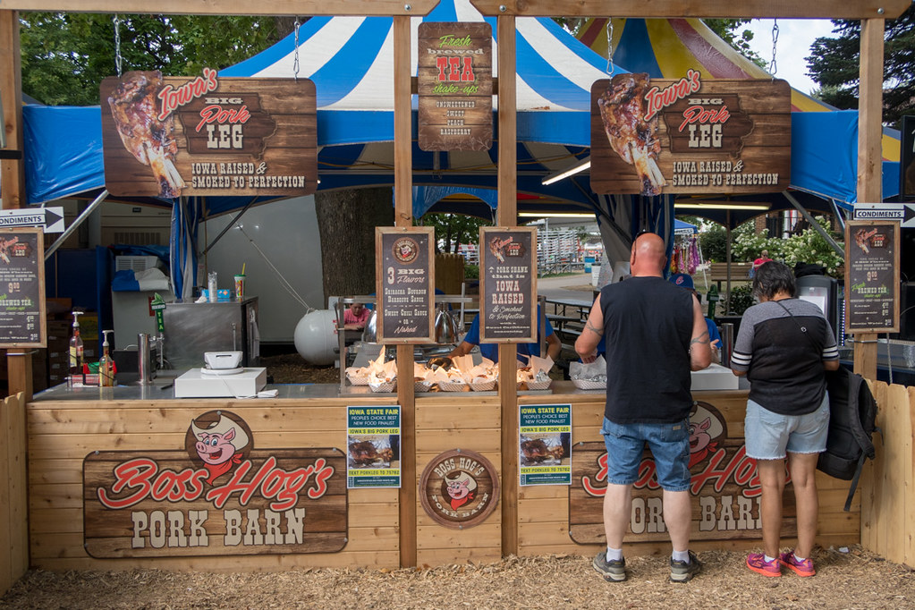 Boss Hog's Pork Barn Booth at Iowa State Fair