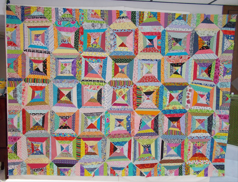 String quilt blocks by Sandi Walton at Piecemeal Quilts
