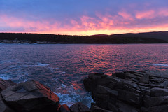 Acadia Sunset Over the Water