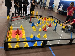 Hawaiian Electric at the Hawaiian Electric Companies Hawaii State VEX Robotics Championships - January 13-14, 2018: Close-up of robots