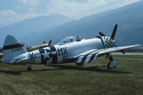 Republic P-47M Thunderbolt at the 1986 Sion Air Show