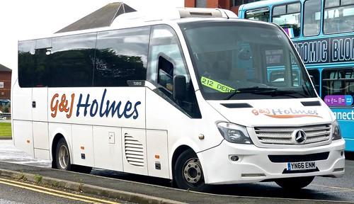 'YN66 ENM 'G&J Holmes'. Clay Cross, Derbyshire. Mercedes-Benz 921L / Turas 900 /3 on Dennis Basford's railsroadsrunways.blogspot.co.uk'
