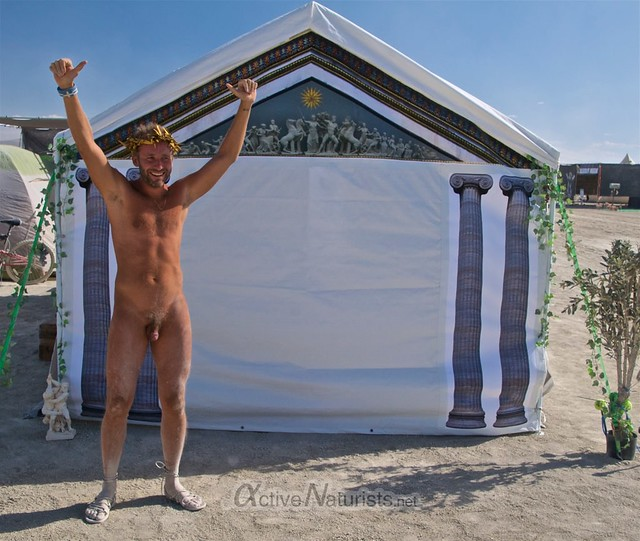 naturist camp Gymnasium 0003 Burning Man, Black Rock City, NV, USA