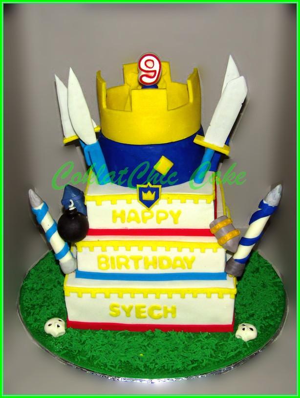 Cake Clash Royale SYECH 4 tingkat 20+18+15+12 cm