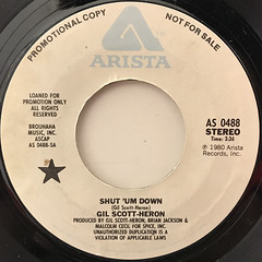 GIL SCOTT-HERON:SHUT 'UM DOWN(LABEL SIDE-A)
