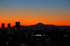 Fuji dusk