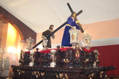"""Real e Ilustre Hermandad y Cofradia de Nazarenos de Nuestro Padre Jesús de la Pasión y Nuestra Madre y Señora del Amparo. """"Pasión""""."""