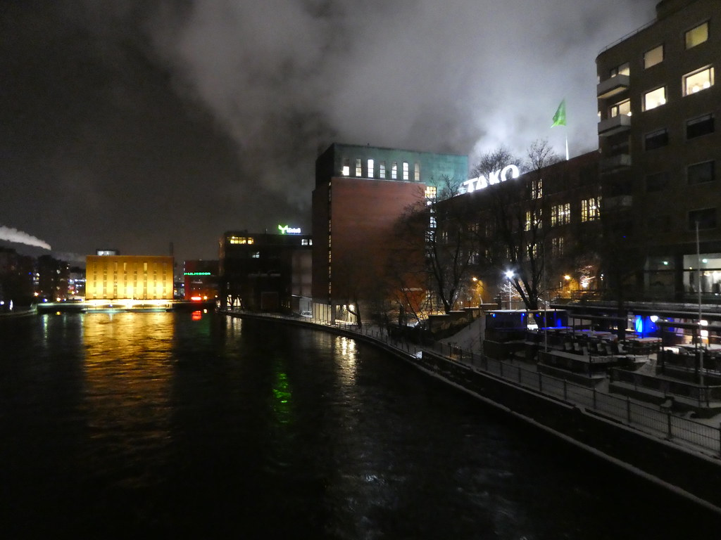 Tampere, Finland at night