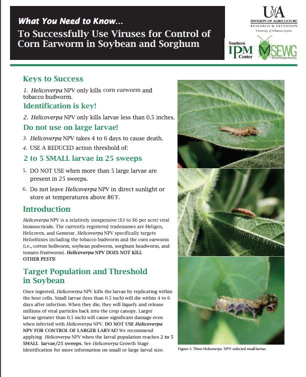 Pest Management for Arkansas Field Crops
