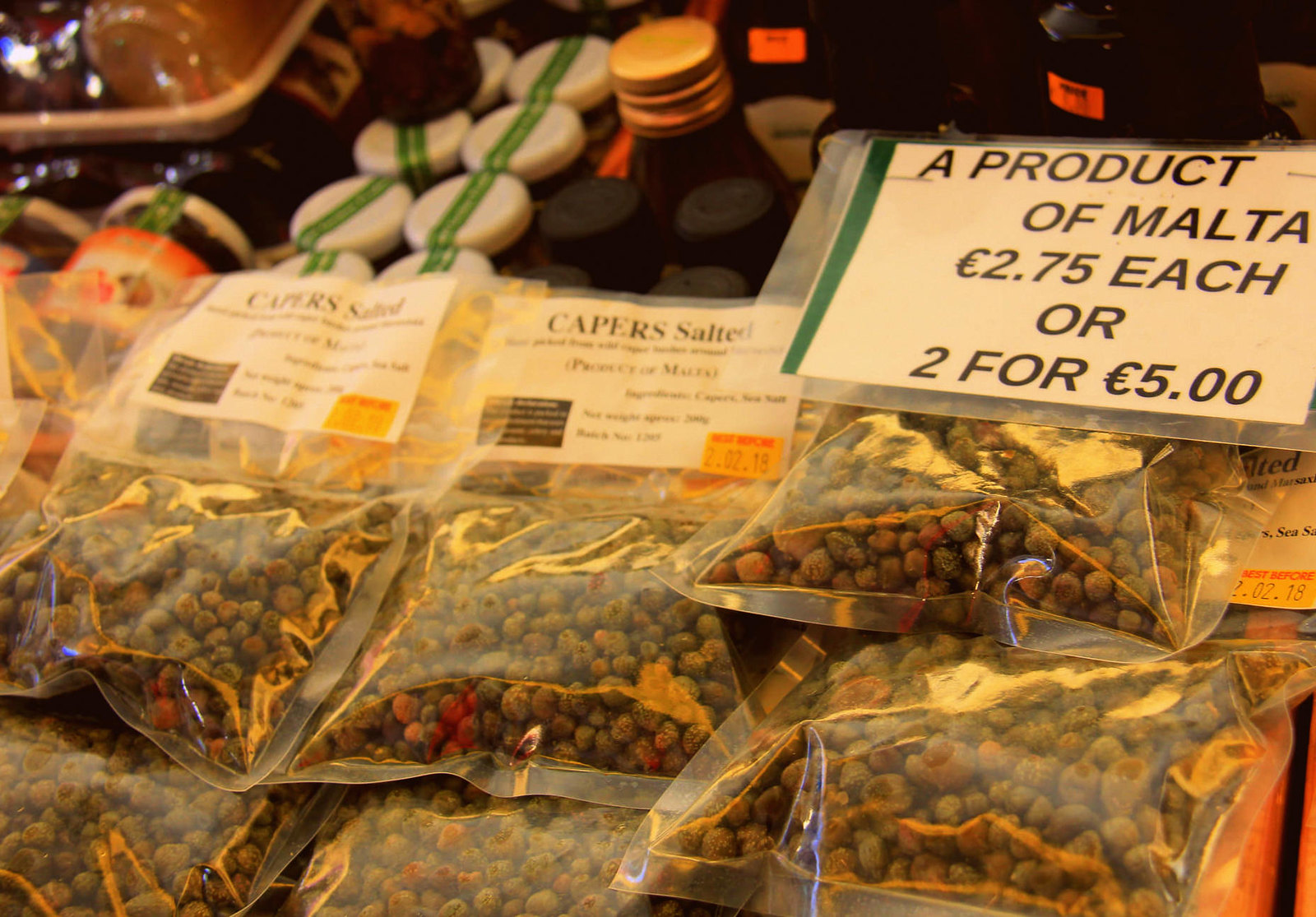 Capers sold at Marsaxlokk market is grown locally