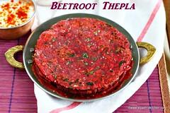 Beetroot-thepla recipe