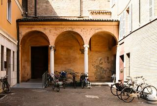 Courtyard, Ravenna 8/26/11 #bikes #italy