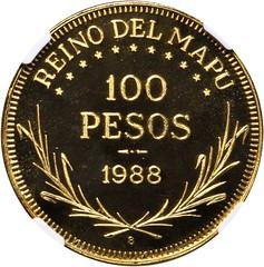 Araucania-Patagonia 100 Pesos reverse