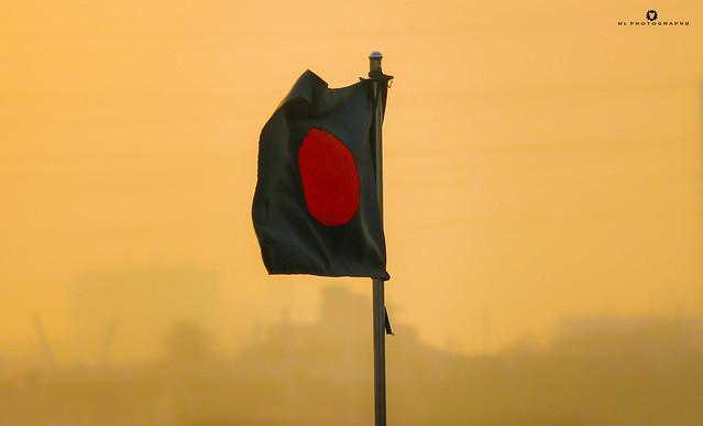 National Flag of Bangladesh.