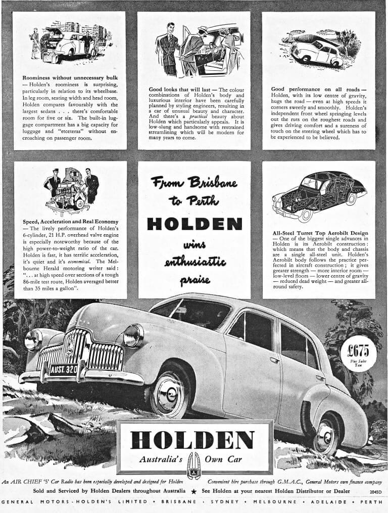 1949 ADVERT FOR HOLDEN FX | AUSTRALIA ~ VINTAGE ADVERT FOR H… | Flickr