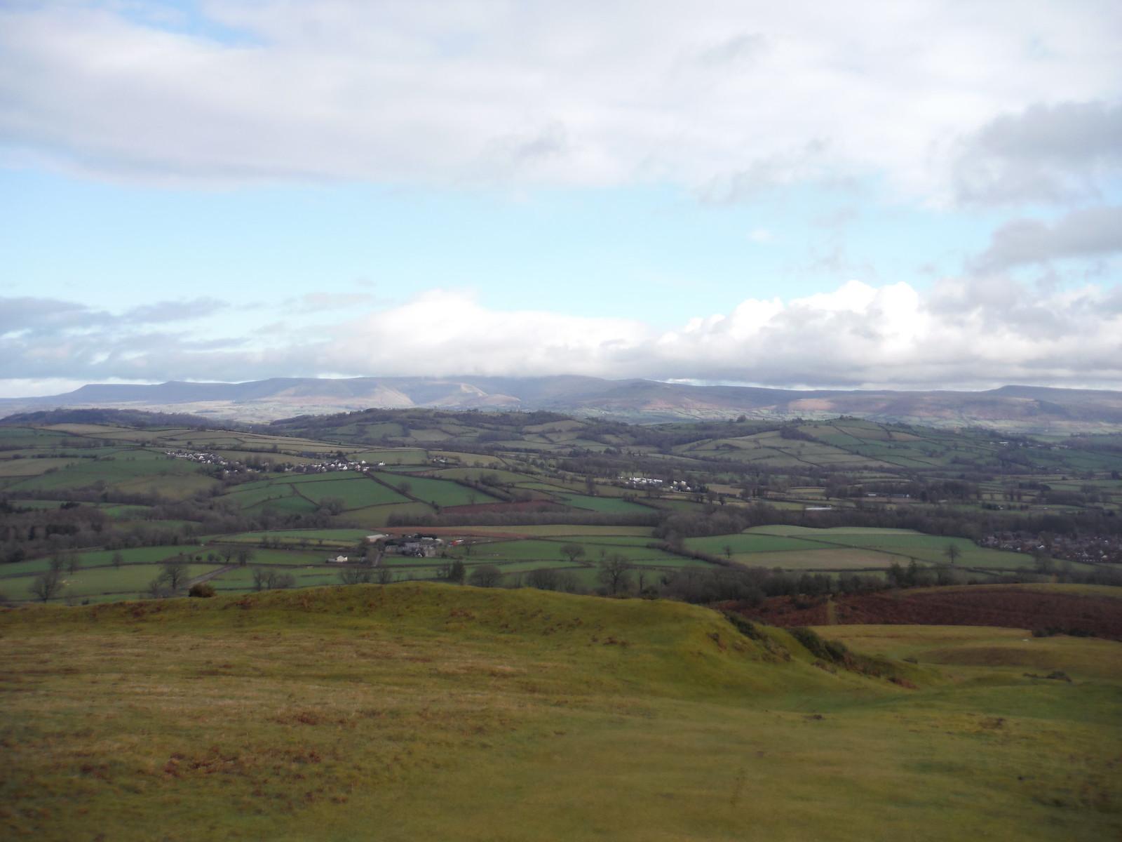 The Black Mountains, from Pen-y-crug SWC Walk 306 - Brecon Circular (via Y Gaer, Battle and Pen-y-crug)