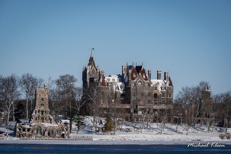 Boldt Castle in Winter