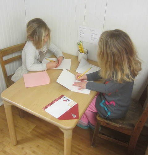 writing cards to each other