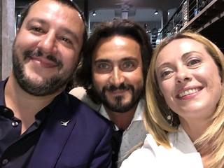 Sandro Laera con Salvini e Meloni