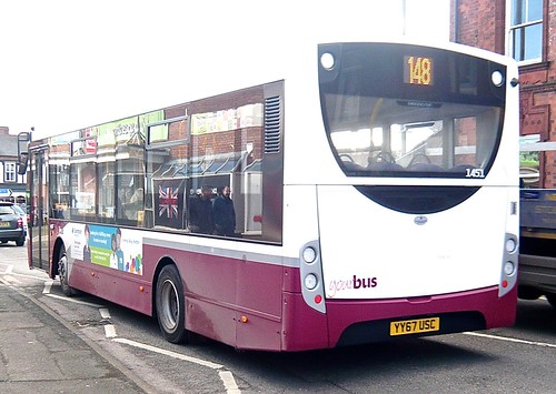 YY67 USC 'yourbus', Heanor. No 1451 'ADL' E20D / 'ADL' Enviro 200 /2 on Dennis Basford's railsroadsrunways.blogspot.co.uk'