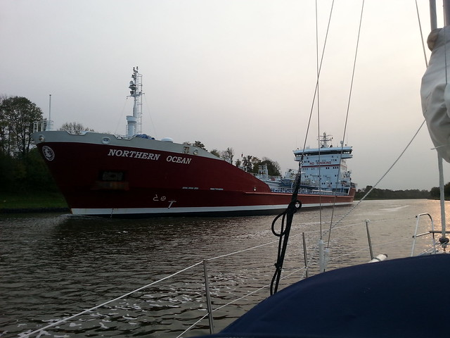 Ship on Kiel Canal
