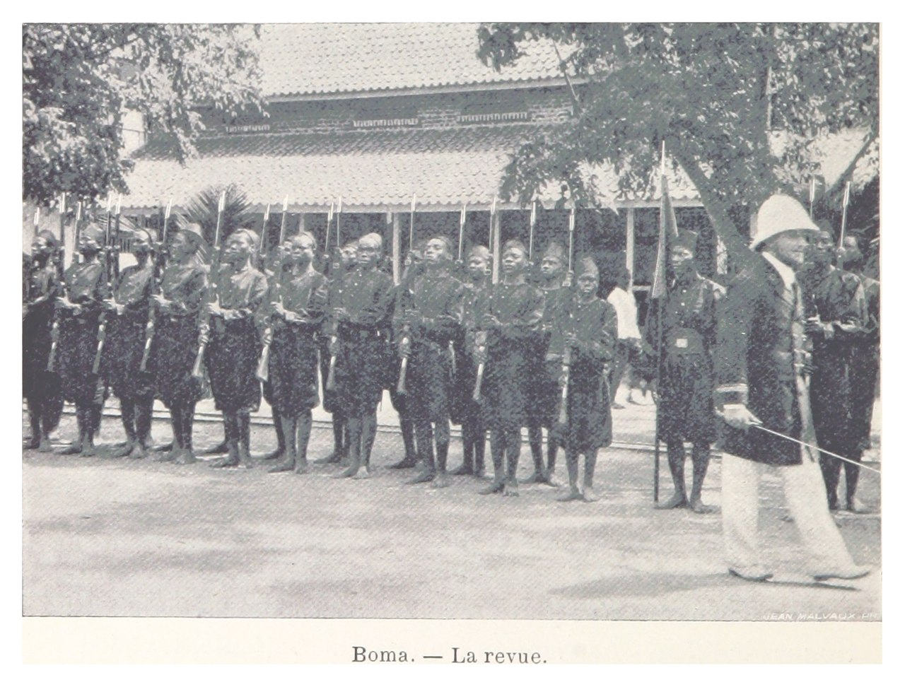 Soldiers of the Force Publique, pictured at Boma in 1899