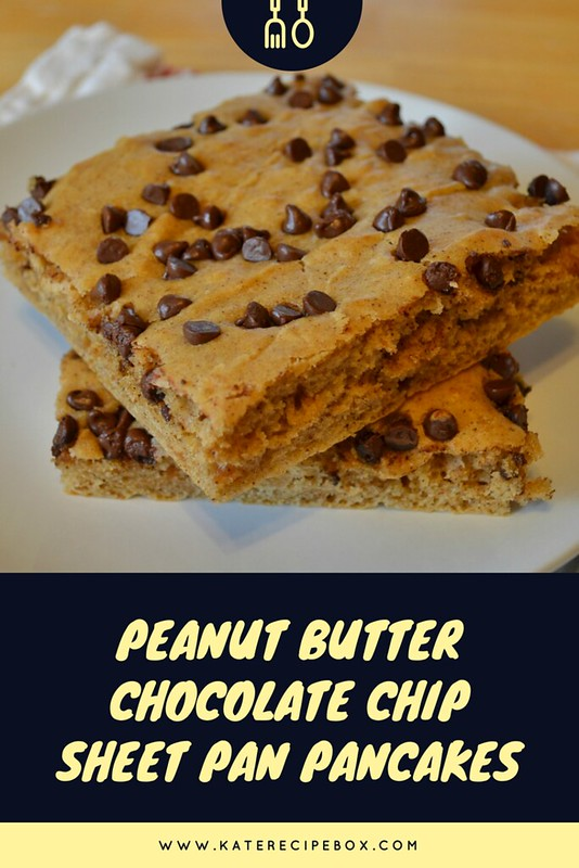 Peanut Butter Chocolate Chip Sheet Pan Pancakes