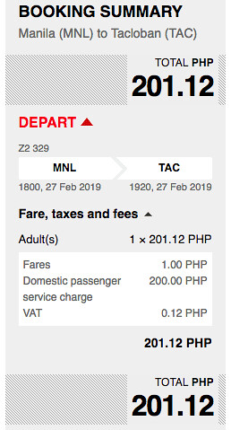 AirAsia Promo Manila to Tacloban February 27, 2019