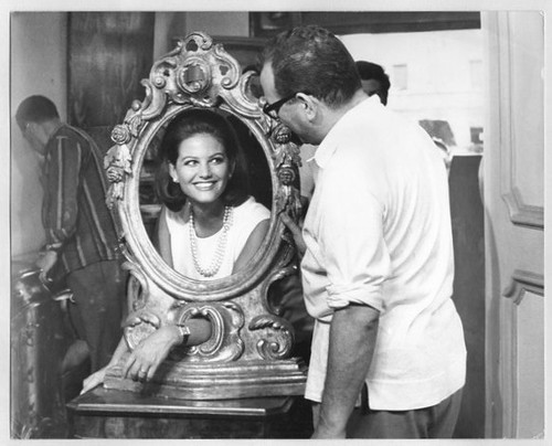 Il Magnifico Cornuto - backstage 2 - Claudia Cardinale and Antonio Pietrangeli
