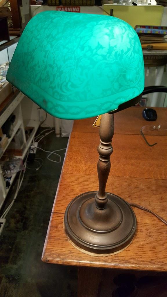Lamps lighting emeralite bankers desk lamp with original bellova shade works 495 aloadofball Gallery
