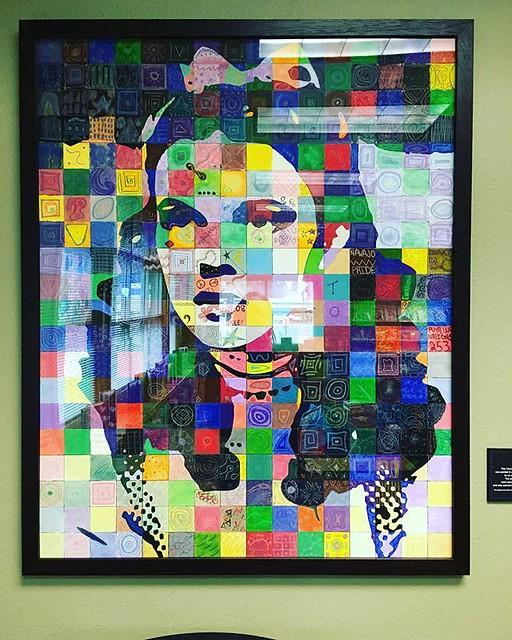 Judy Garland art at the library today.
