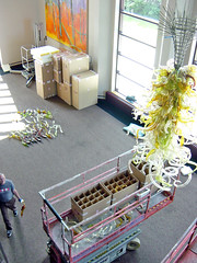 Weidner Center Chandelier Installation