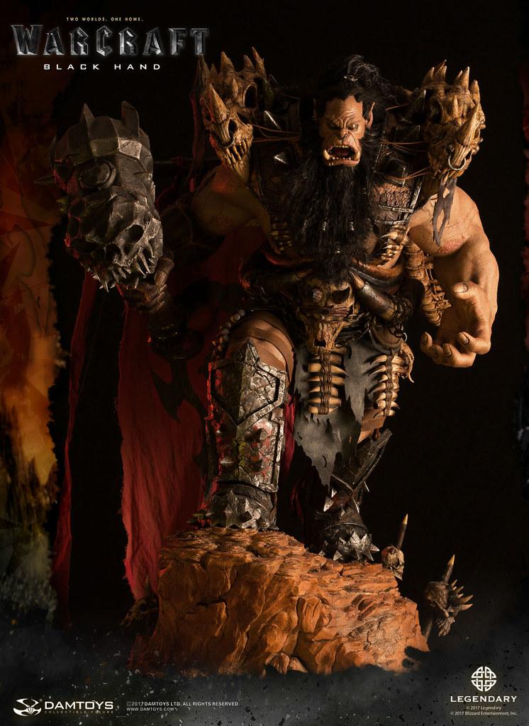 肩膀上的龍骨實在太搶眼啦~ DAMTOYS《魔獸:崛起》黑手 Warcraft Blackhand DMLW04 全身雕像作品