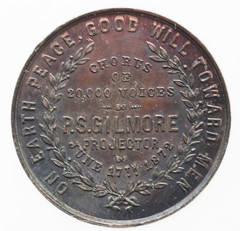 World's Peace Jubilee medal reverse
