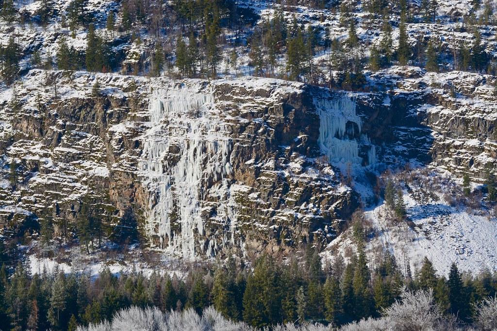Eddy ice falls