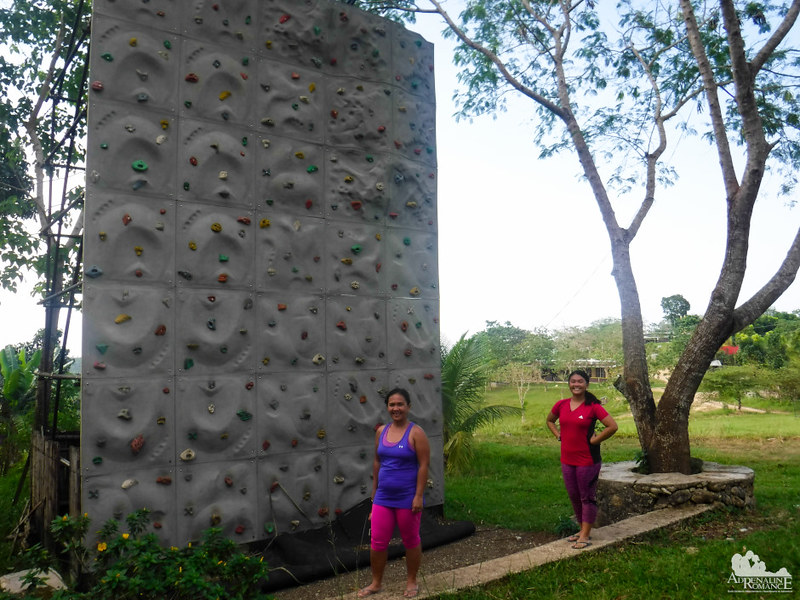 Kiddie climbing wall