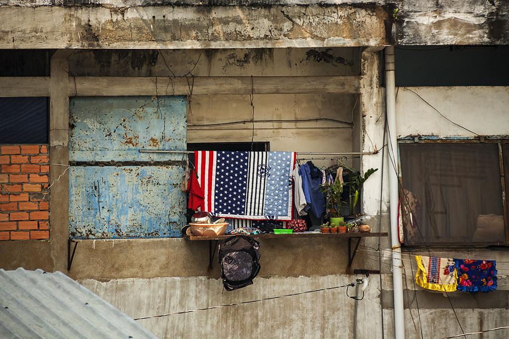 American flag comforter--Saigon
