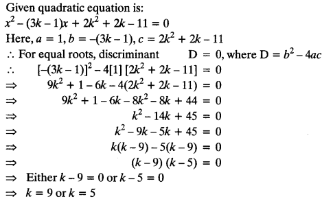 Quadratic Equations Chapter Wise Important Questions Class 10 Mathematics 91